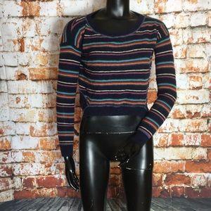 Free People Beach Multi Colored Striped Sweater